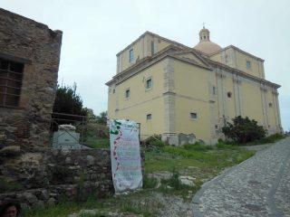 la salita per raggiungere l'ex convento delle bendettine