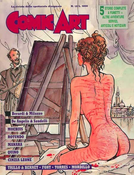 copertina della rivista Comic Art n.18 dedicata a Milo Manara