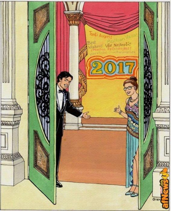 Cartolina di auguri di Vittorio Giardino