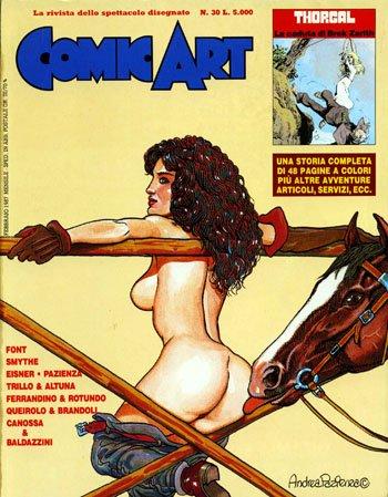 Copertina della rivista Comic Art n. 30 di Andrea Ppazienza