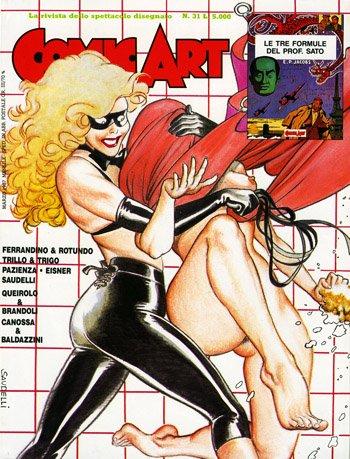 Copertina della rivista Comic Art n. 31 di Saudelli