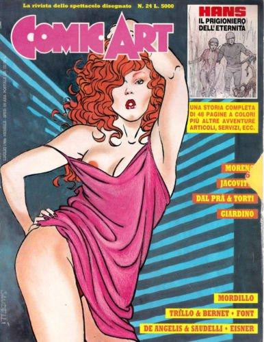copertina della rivista Comic Art n. 24 di sSaudelli
