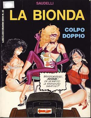 """Copertina del volume a fumeti """"La Bionda"""" di Franco Saudelli"""