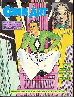 Copertina della rivista Comic Art n. 43 di Attilio Michelluzzi