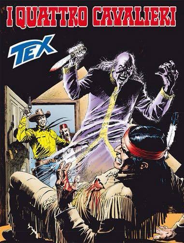 copertina dell'albo n. 674 di TEX: I QUATTRO CAVALIERI