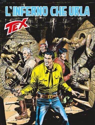 copertina dell'albo n. 675 di TEX: L'INFERNO CHE URLA