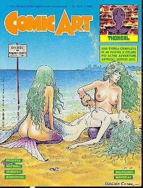 Copertina della rivista Comic Art n. 46- disegno di ugolinocossu