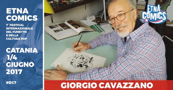 Banner di Etna Comics  2017 dedicato a Giorgio cavazzano