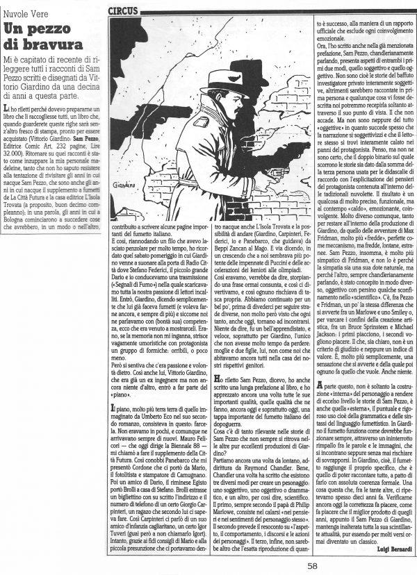 """Articolo """" UN PEZZO DI BRAVURA  """", tratto dal n. 50 della rivista Comic Art"""
