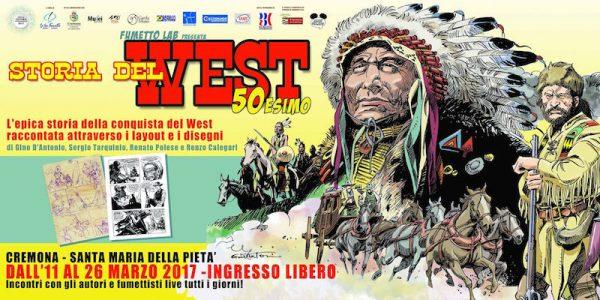 """banner della mostra STORIA DEL WEST"""" 50esimo"""