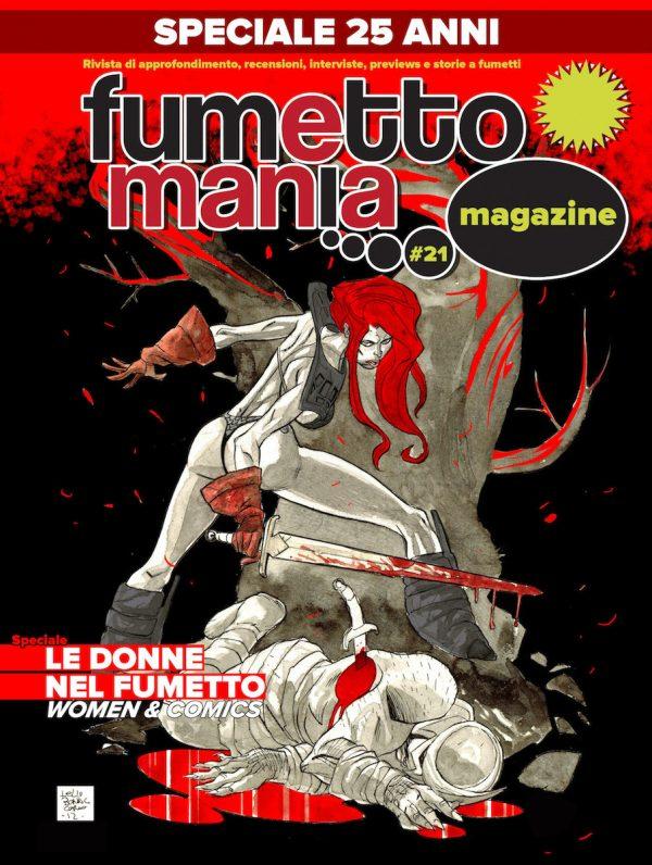Copertina del n. 21 della rivista Fumettomania
