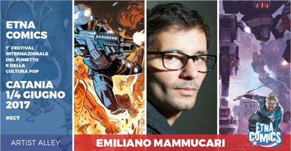 Banner promozionale di Etna Comics 2017 per Emiliano Mammucari