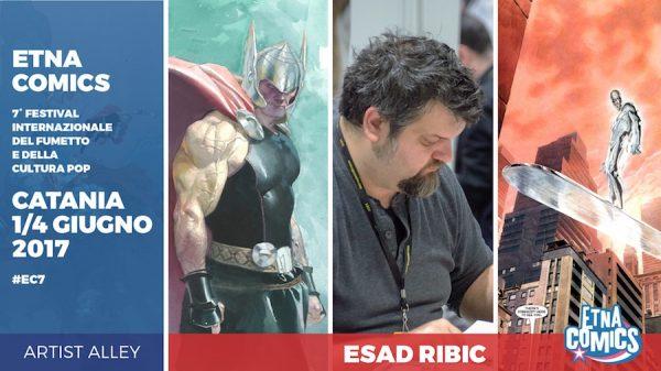 Banner promozionale di Etna Comics 2017 per Esad Ribić
