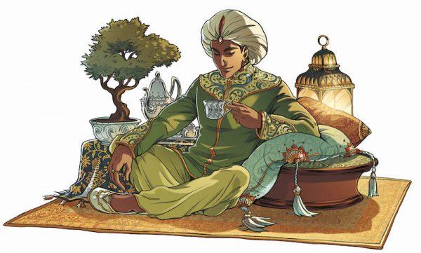 "illustrazione  da  serie ""PRINCESSE SARA"" pubblicata da Soleil/Delcourt in Francia"