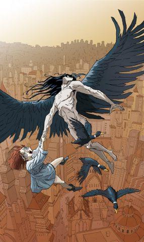 """copertina del graphic novel """"Inferno"""", per i disegni di Armando Rossi (RW Lineachiara) e i testi di Susanna Raule"""