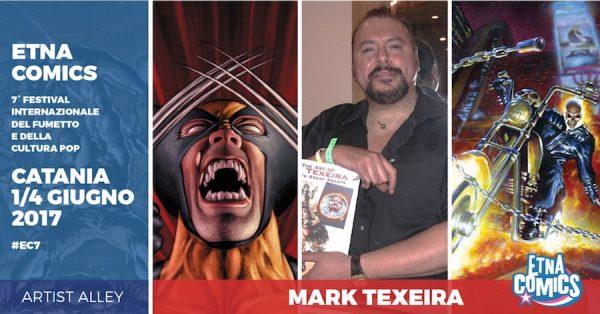 Banner promozionale di Etna Comics 2017 per Mark Texeira