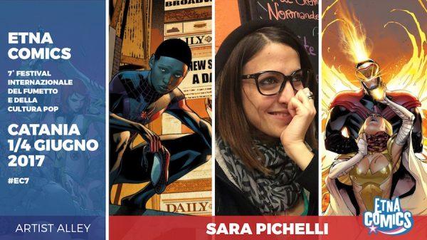 Banner promozionale di Etna Comics 2017 per Sara Pichelli