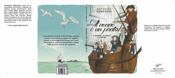 Copertina estesa del romanzo IL NONNO E' UN PIRATA di Antonino Genovese