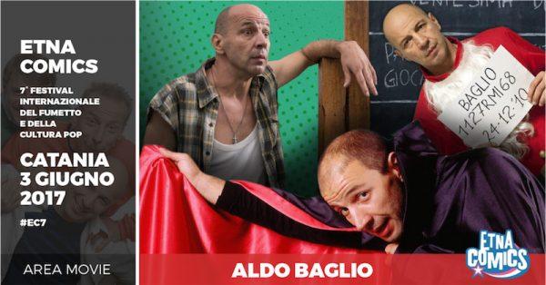 Banner di EtnaComics 2017 dedicato ad Aldo Baglio