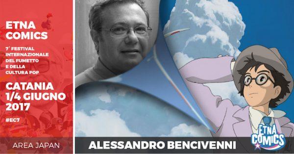 Banner di EtnaComics 2017 dedicato ad Alessandro Bencivenni