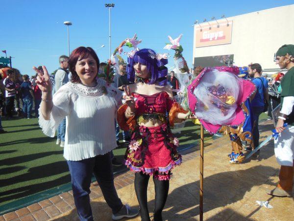 Angela con un bel cosplay