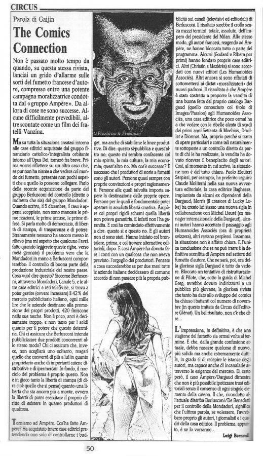 """Articolo """" THE COMICS CONNECTION"""" tratto dal n. 63 della rivista Comic Art"""