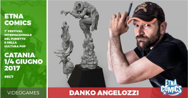 Banner di EtnaComics 2017 dedicato a Danko Angelozzi