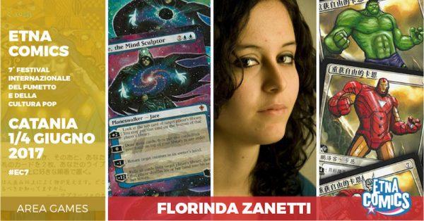 Banner di EtnaComics 2017 dedicato a Florinda Zanetti