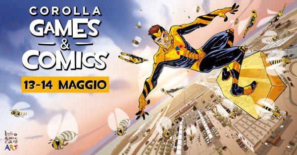 il banner- poster dell'edizione 2017 del Corolla Games&Comics, disegnato da Lelio Bonaccorso