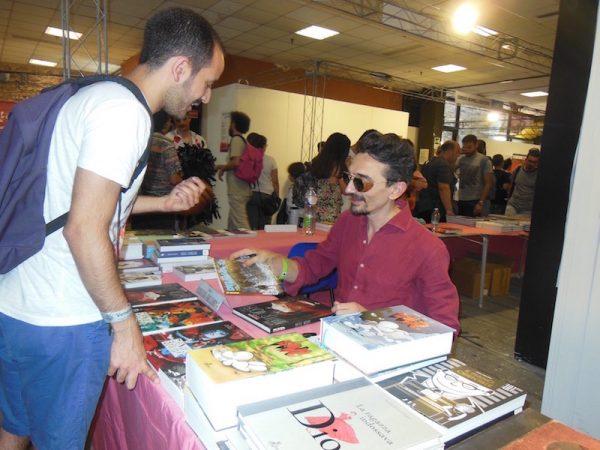 foto di Roberto Recchioni a ad Etna comics 2017