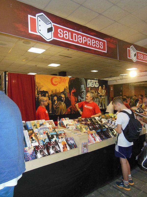 foto dello stand Saldapress ad Etna comics 2017