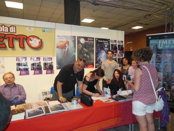 foto della Scuola di Fumetto di Catania ad Etna comics 2017