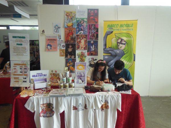 Spazi di autori giovani (Marco morale), al piano primo del padiglione F, ad Etna Comics 2017