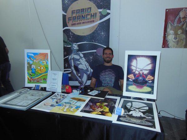 Spazi di autori giovani (fabio franchi), al piano primo del padiglione F, ad Etna Comics 2017