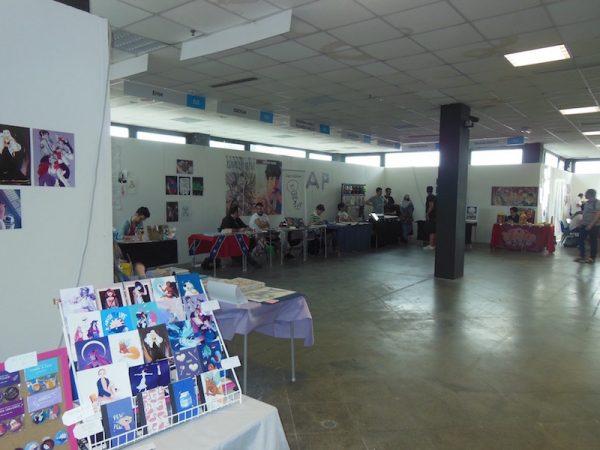 Spazi di autori giovani, al piano primo del padiglione F, ad Etna Comics 2017