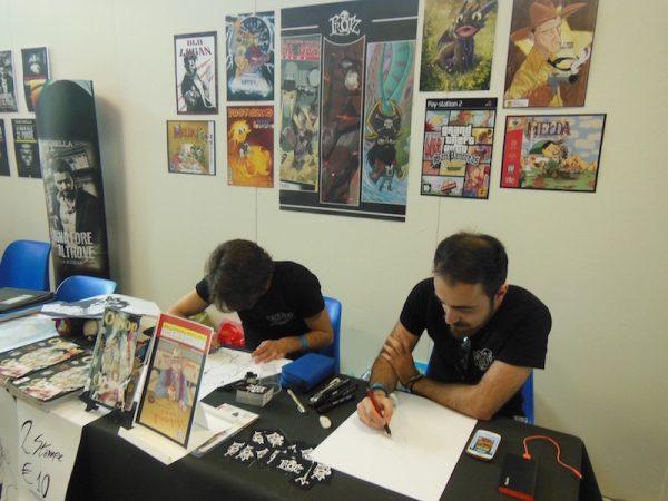 Spazi di autori giovani (gli Prootz), al piano primo del padiglione F, ad Etna Comics 2017