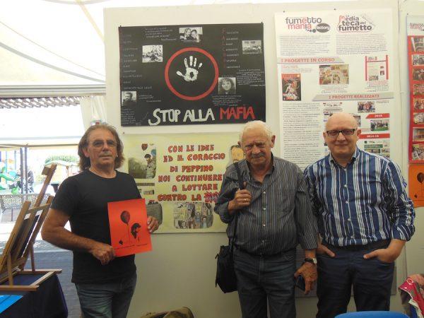 Foto con Salvo Vitale e Faro Di Maggio (due amici e compagni di Peppino Impastato)