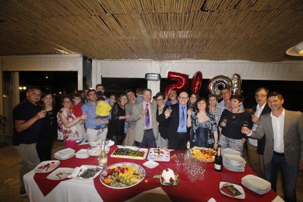 foto di gruppo con i partecipanti al mio 50° compleanno