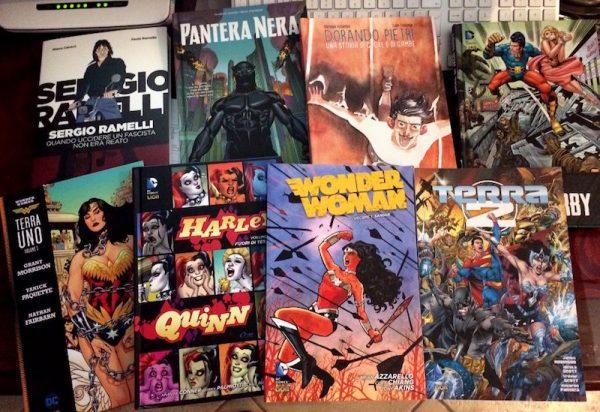 Gli acquisti di mario ad Etna Comics