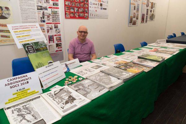 Foto allo stand  di Fumettomania, alla Fiera del libro ed. 2017, al Parco Corolla