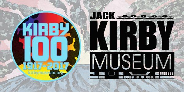 Banner del Jack Kirby Museum pe ri 100 anni di Kirby