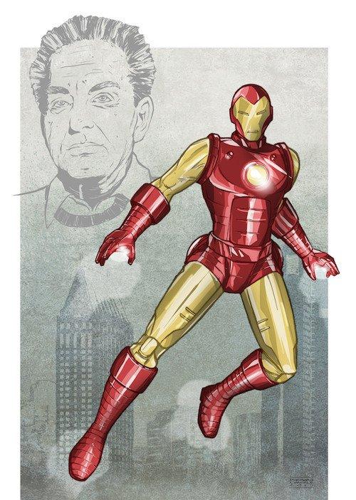 Iron Man. Tributo a Jack Kirby della disegnatrice catanese Barbara Daniele