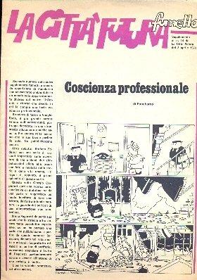 """Scansione della pagina iniziale de l supplemento a fumetti de """"La Città Futura"""", rivista della FGCI."""