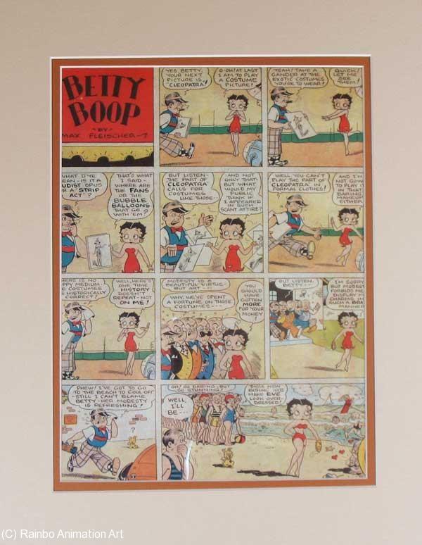 Tavola a fumetti gigantesca di Betty Bop