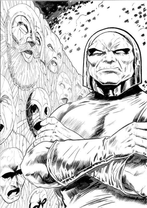 Darkseid. tributo a Jack kirby di Jouko Ruokosenmäki