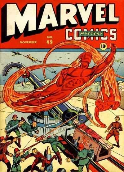 """copertina di Marvel Mystery Comics N° 49"""" (nov. 1943)"""