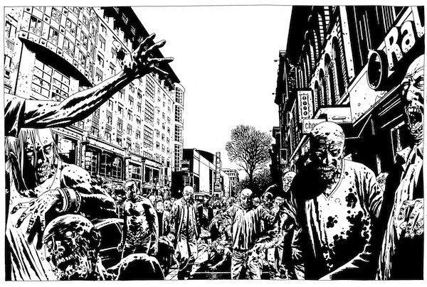 Charlie Adlard: The-Walking-Dead artwork