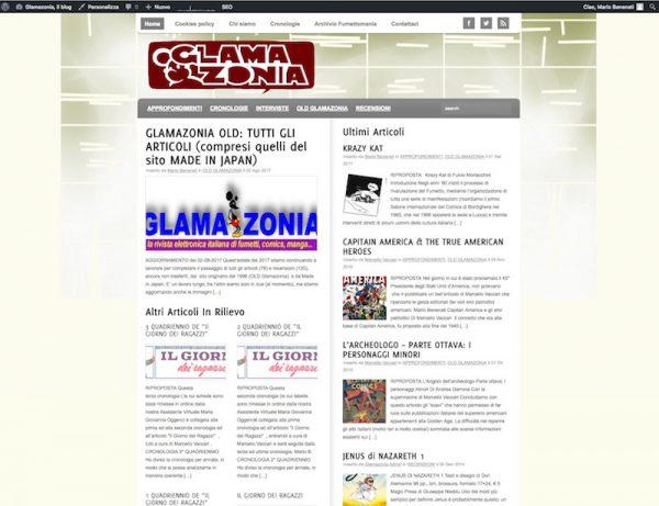 homepage del blog di glamazonia alla data del 29-10-17.