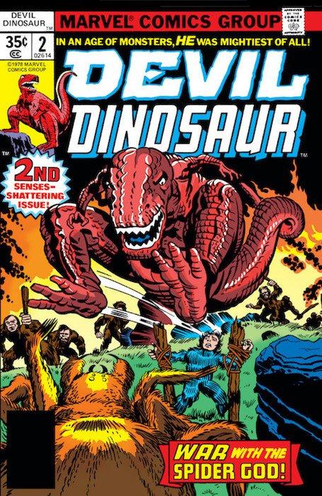 Copertina del n. 2 della serie Devil Dinosaur di jack Kirby
