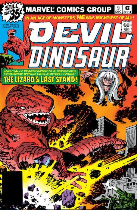Copertina del n. 9 della serie Devil Dinosaur di Jack Kirby